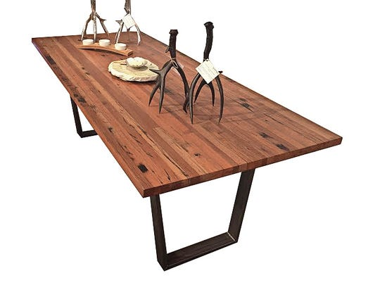 Dining tables made of reclaimed wood are popular among consumers.