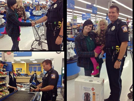 Officer helps out