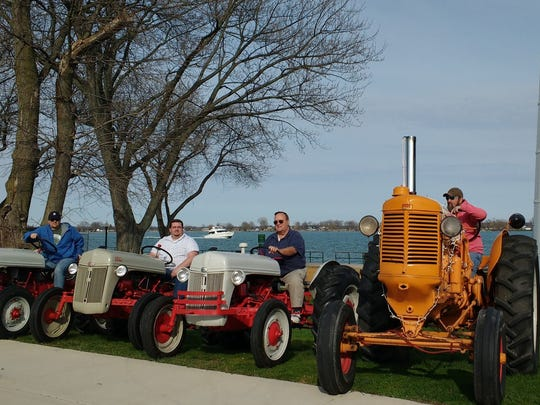 Rob Gardiner, Bob Blanchard, Bill Blanchard and Garry Spencer will be driving their tractors from Marine City to Mackinaw City for the annual Mackinac Bridge Antique Tractor Crossing and to raise money for prostate cancer research.