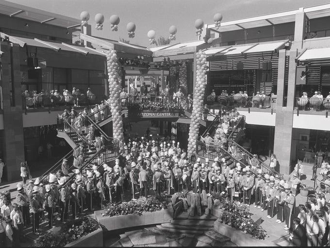 Arizona Center opening Nov. 15, 1990, in Phoenix Arizona.