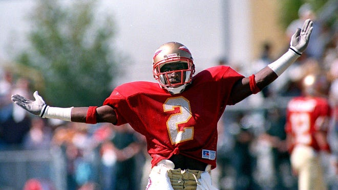 Deion Sanders was an All-American at Florida State and one of the program's most electric players.