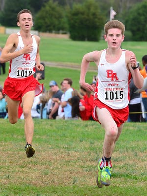 Brentwood Academy's Carter Cheeseman (1015) and Davis Holliday (1018) finished 1 and 2 in the DII-AA state meet in 2015.