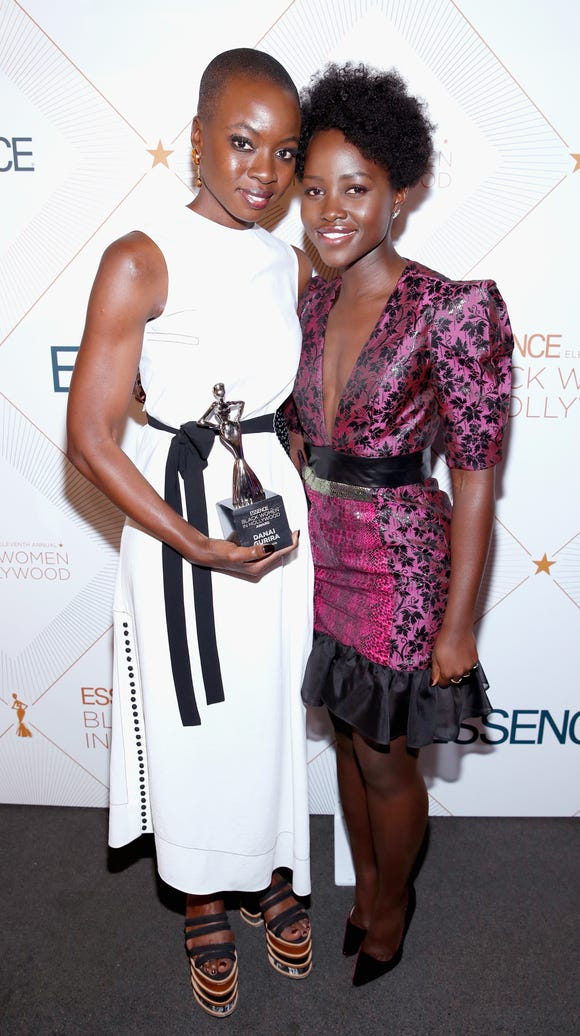 Danai Gurira and Lupita Nyong'o supported each other