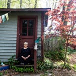 Judith Toy, teacher at Cloud Cottage Sangha, meditates inside her studio at her home outside Black Mountain April 26, 2016.