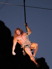 """Tuacahn's 2010 production of """"Tarzan,"""" starring James Royce Edwards, began the theater's relationship with Disney Theatrical Group."""