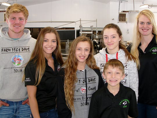 The Sternweis children all help at D&B Sternweis Farms.