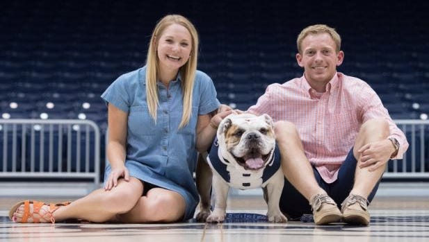 Tyler Lewis proposed to his girlfriend Ali Burgiss Friday, June 24, 2016 at Hinkle Fieldhouse.