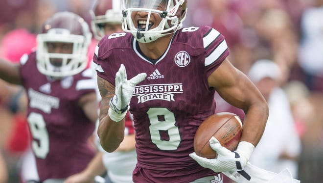 Mississippi Sate wide receiver Fred Ross earned preseason All-SEC honors by ESPN.