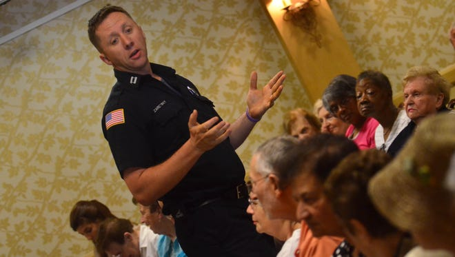 Jordan Zaretsky has been named Teaneck's acting fire chief. Here, he speaks at a fire safety seminar in 2013.