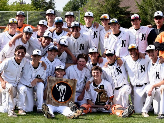 The Northville baseball team earned its first district title since 2014.