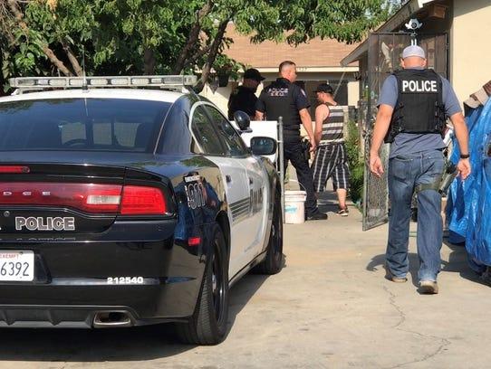 Visalia's Special Enforcement Unit searched a home
