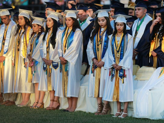 Fabens High School graduates paused to remember Aaron
