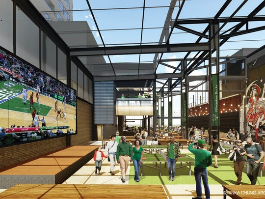 The Milwaukee Bucks released new renderings of a beer