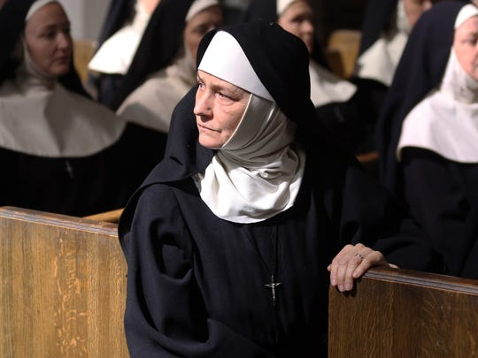 "Melissa Leo as Reverend Mother in ""Novitiate."""