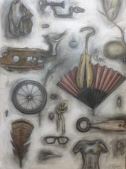 """Nancy Ryan's """"Collections"""" includes paintings of objects"""