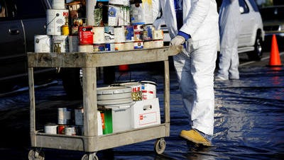 Paint and other chemicals will be collected Saturday in Lafayette.