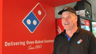 Richard Price of Domino's Pizza is nominated for a VRA 2015 award. Photo taken at the Aurora Road location that is the first of 17 locations that he now owns. He began as a pizza delivery driver in 1980.