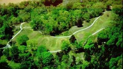 This is the photo of Serpent Mound, an Ohio Historical Society site in Adams County. It is being considered for inclusion on the World Heritage List.