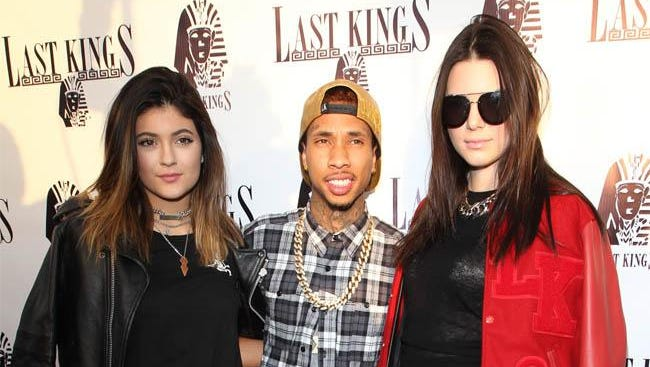 Kylie Jenner, Tyga and Kendall Jenner