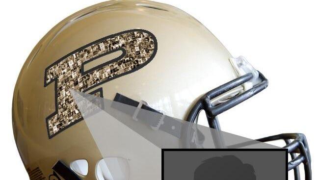 Preview of Purdue helmet.
