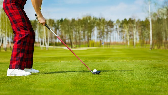 """Getting the right distance to clear a tree can be tricky. Golf pro Daril Pacinella says """"To hit it high, finish high."""""""