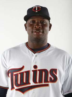 Miguel Sano  of the Minnesota Twins FORT MYERS, FL - MARCH 3:  Miguel Sano #61 of the Minnesota Twins poses for a photo on March 3, 2015 at Hammond Stadium in Fort Myers, Florida.  (Photo by Brian Blanco/Getty Images)