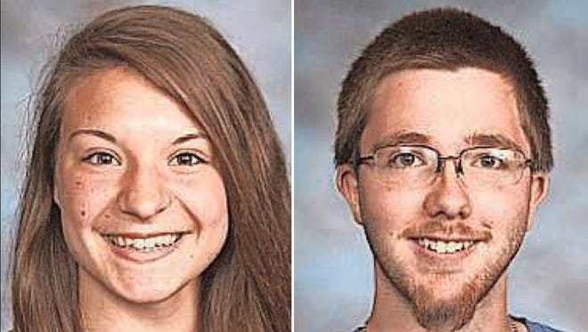 Jessie Barker and Doniven Coenen of Clintonville High School are this week's top scholars.