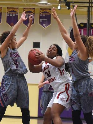 St. Lucie West Centennial played Vero Beach Thursday, Feb. 02, 2017, during their high school girls basketball game at Fort Pierce Central High School.
