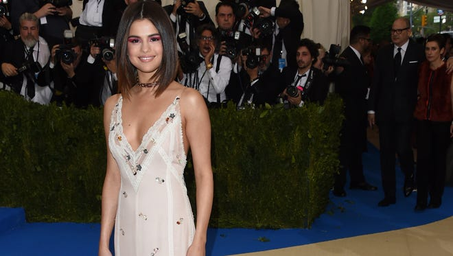 Selena Gomez attends The Metropolitan Museum of Art's Costume Institute benefit gala celebrating the opening of the Rei Kawakubo/Comme des Garçons: Art of the In-Between exhibition on Monday, May 1, 2017, in New York.