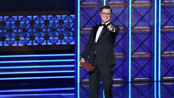 Stephen Colbert hosted the 69th Primetime Emmy Awards