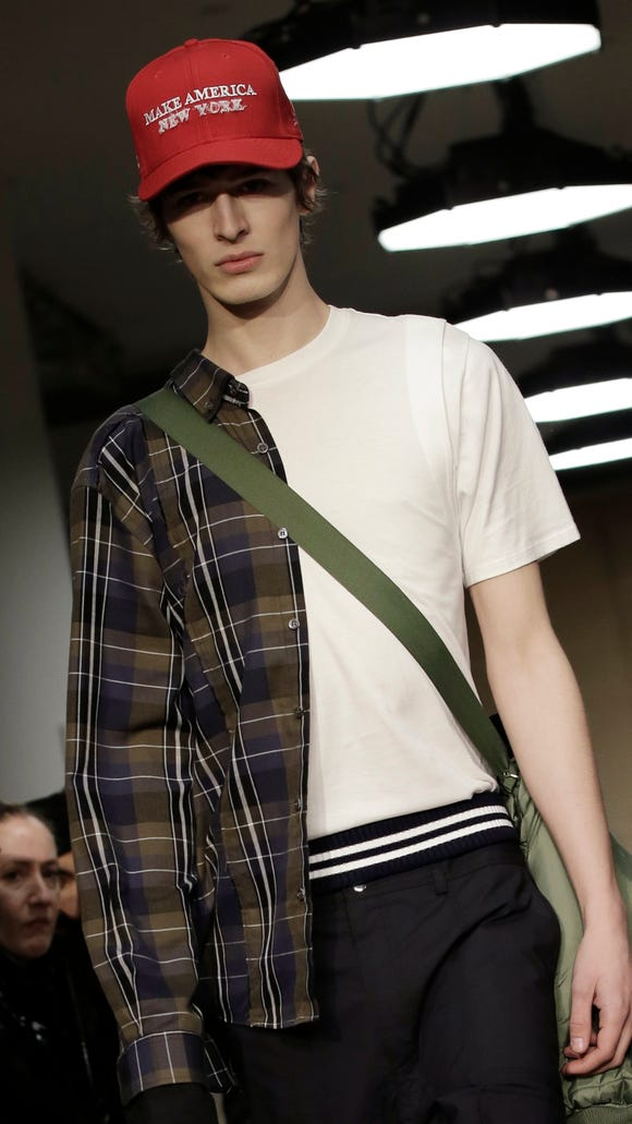 A model at the Public School show during New York Fashion