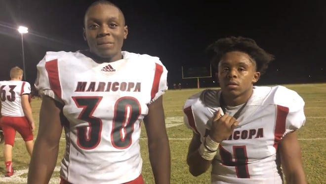 Tylen Coleman and Kemo Akins were standout performers in Maricopa's win over Ironwood 26-15.