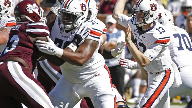 Auburn quarterback Sean White has completed 74 percent of his passes for 1,074 yards in Auburn's last five games.