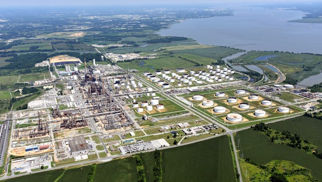 The Delaware City Refining Co. After years of delay, state environmental regulators renewed a controversial permit this week that allows the Delaware City refinery to cool its facility with water pumped in from the Delaware River.