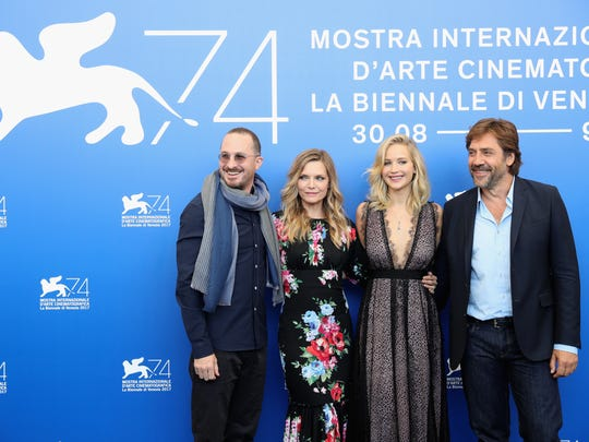 "The ""mother!"" team in Venice: Darren Aronofsky (from"