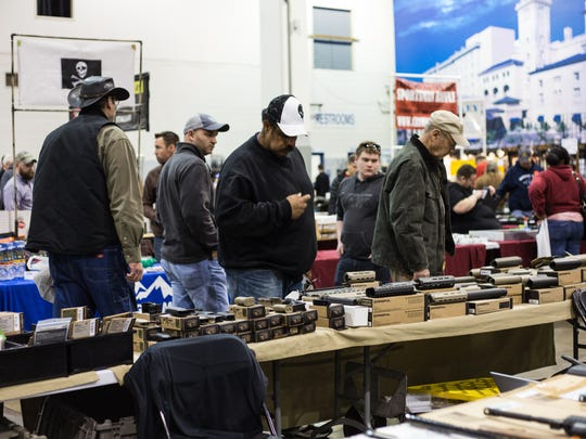 Signs at Showmasters Gun Show at the Richmond International