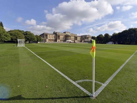 Buckingham Palace soccer pitch