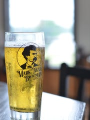 A beer at the Mark Twain Brewery.