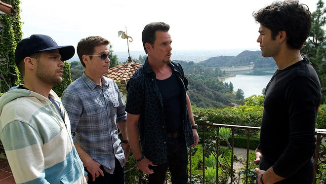 """Jerry Ferrara as Turtle, Kevin Connolly as Eric, Kevin Dillon as Johnny Drama and Adrian Grenier as Vince bring HBO's """"Entourage"""" to the big screen."""