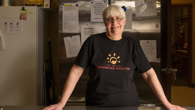 Kathy Recker volunteers at the Fox Valley Warming Shelter in Appleton by serving breakfast every Saturday.