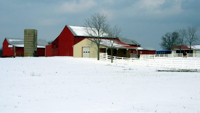 One of many older barns on farms in Burlington County.