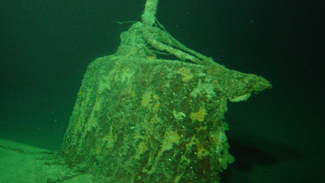 The conning tower of the mini submarine sunk by the USS Ward in Pearl Harbor.
