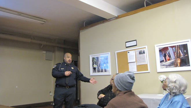 Montclair Police Lt. Tyrone Williams Jr. spoke at the Union Baptist Church on Feb. 15 along with Detective Rikki Cook.