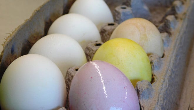 The Sandusky County Park District hosted a class on natural egg dying on Sunday to allow families to use foods and spices to achieve colors including pink, yellow and brown.