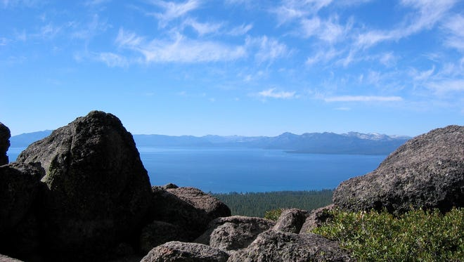 Views of Lake Tahoe are many as you hike along the Tahoe Rim Trail.