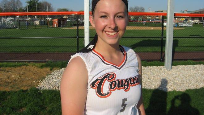 Sara Boyer had both Palmyra hits in Tuesday's 5-0 loss to Lower Dauphin.