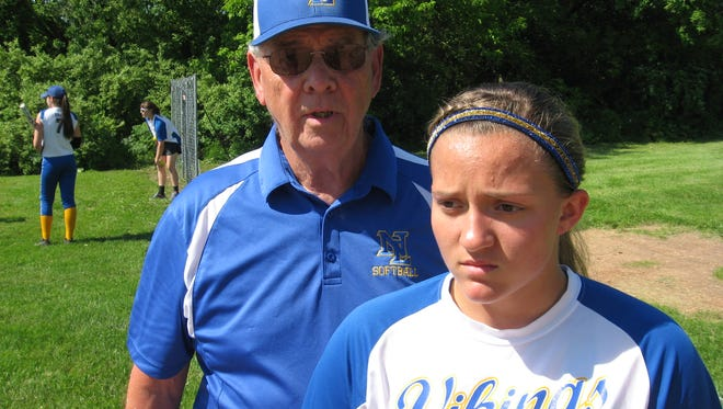 There wasn't much NL coach Ed Spittle could say to console his granddaughter, second baseman Hannah Bashore, following the Vikings' 5-1 district loss at West Perry.