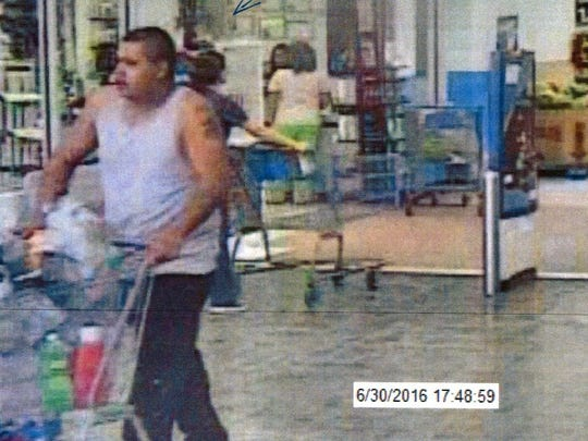 Doña Ana County Sheriff's detectives are looking for at least five people who are suspected of making fraudulent purchases with a stolen credit card at two Las Cruces Walmart locations last month.