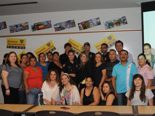 """Los asistentes al curso en español de """"Patrullaje de"""