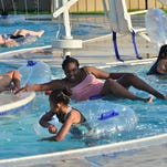 Special guests help workers at Chambersburg waterpark test their skills